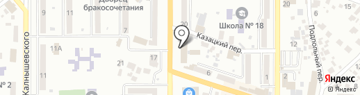 Банкомат, Ощадбанк на карте Новомосковска
