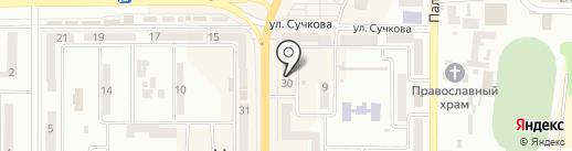 Банк Кредит Днепр на карте Новомосковска