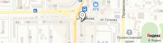 Капитоша на карте Новомосковска