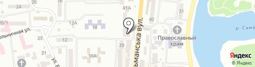 Магазин керамической плитки и сантехники на карте Новомосковска