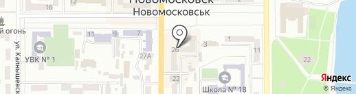 Новомосковська міська рада ветеранів на карте Новомосковска