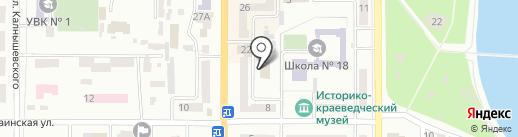 Компас на карте Новомосковска