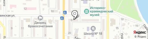 Нотариус Спиренкова Н.В. на карте Новомосковска