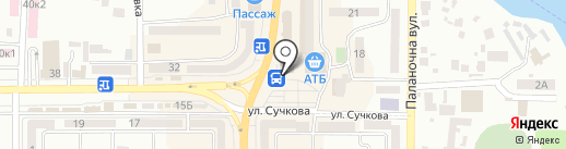 Зефир на карте Новомосковска