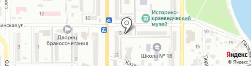 ТАС, ЧАО на карте Новомосковска