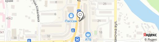 Жасмин на карте Новомосковска