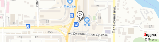 М`ясний лідер на карте Новомосковска