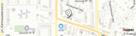 Находка на карте Новомосковска
