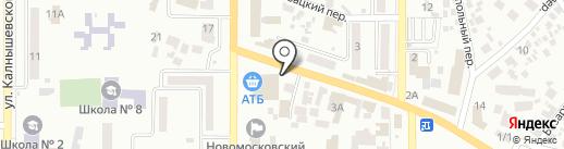 Полісся на карте Новомосковска