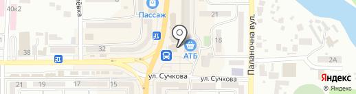 Киоск по продаже фастфудной продукции на карте Новомосковска