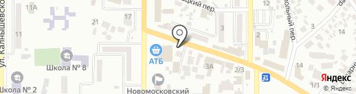 Терминал самообслуживания, КБ ПриватБанк, ПАО на карте Новомосковска
