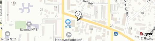 Стимул на карте Новомосковска
