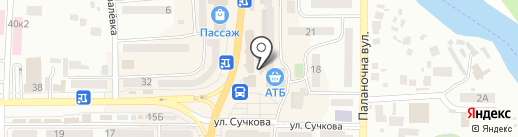 55 & 75 на карте Новомосковска
