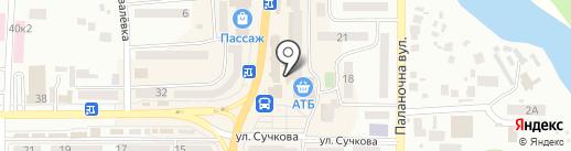 Каріна на карте Новомосковска
