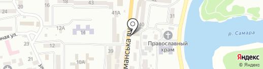 Терминал самообслуживания, УкрСиббанк, ПАО на карте Новомосковска
