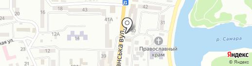 Чиста оселя на карте Новомосковска