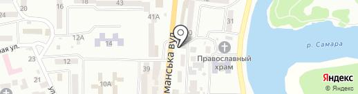 Магазин на карте Новомосковска