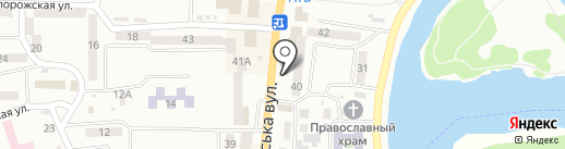 Аврора на карте Новомосковска