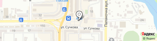 Киоск по продаже пива на карте Новомосковска