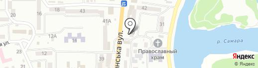 Ковбас Маркет на карте Новомосковска