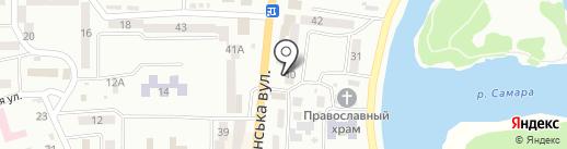 Магазин сумок на карте Новомосковска