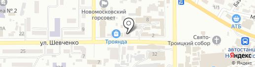 Транспортная компания на карте Новомосковска