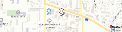 ПАН аккумулятор на карте Новомосковска