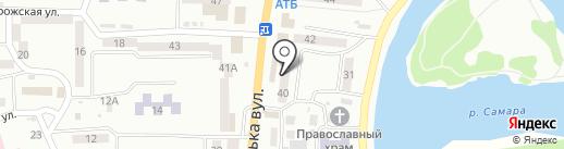 Малыш на карте Новомосковска