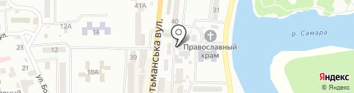 Хороший на карте Новомосковска