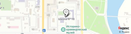 Середня загальноосвітня школа №18 на карте Новомосковска