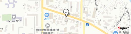 НОВА ПОШТА на карте Новомосковска