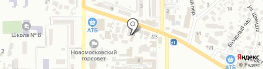 Мебельный магазин на карте Новомосковска