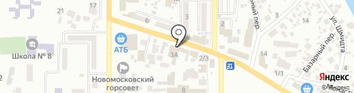 Эсфирь на карте Новомосковска