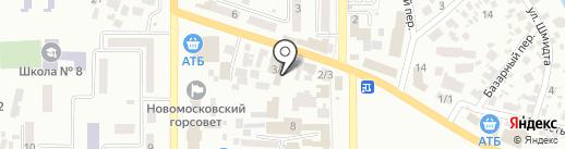 Все для похорон на карте Новомосковска