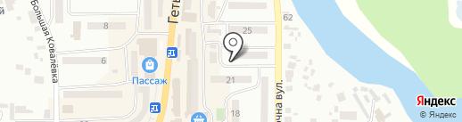 Фірмовий підвальчик на карте Новомосковска