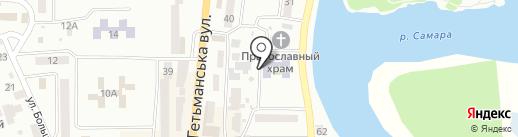 Територіальний центр соціального обслуговування м. Новомосковська на карте Новомосковска