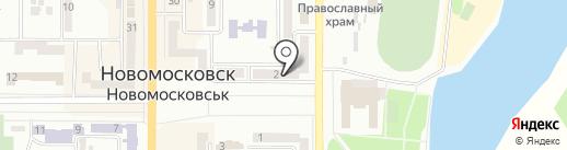 Дева на карте Новомосковска