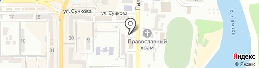 Красное и Белое на карте Новомосковска