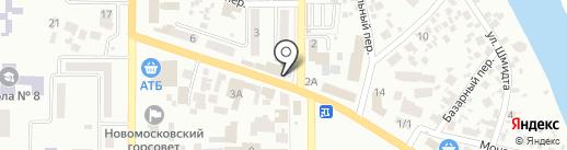 Будинок електрика на карте Новомосковска
