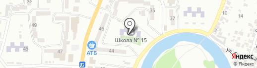 Середня загальноосвітня школа №15 на карте Новомосковска