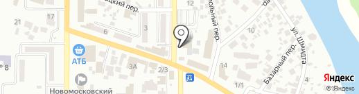 УЮТ-Мебель на карте Новомосковска