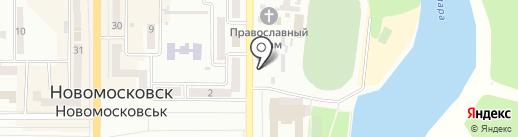 Пивная бочка на карте Новомосковска