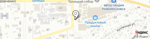 Хлебный киоск на карте Новомосковска