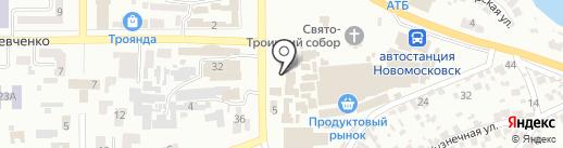 Привоз на карте Новомосковска