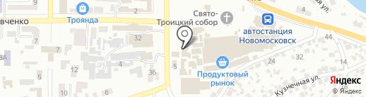 Рыбный магазин на карте Новомосковска