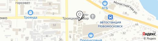 Магазин бытовой химии на карте Новомосковска