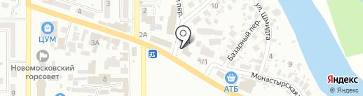 Мастерская по ремонту одежды на карте Новомосковска