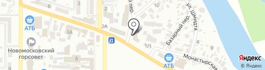 КНЯЖА на карте Новомосковска