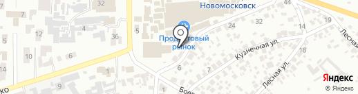 Платный общественный туалет на карте Новомосковска