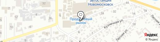 Город мастеров на карте Новомосковска